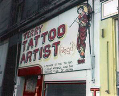 Early shop fronts - terry's tattoo studio - circa 1970's
